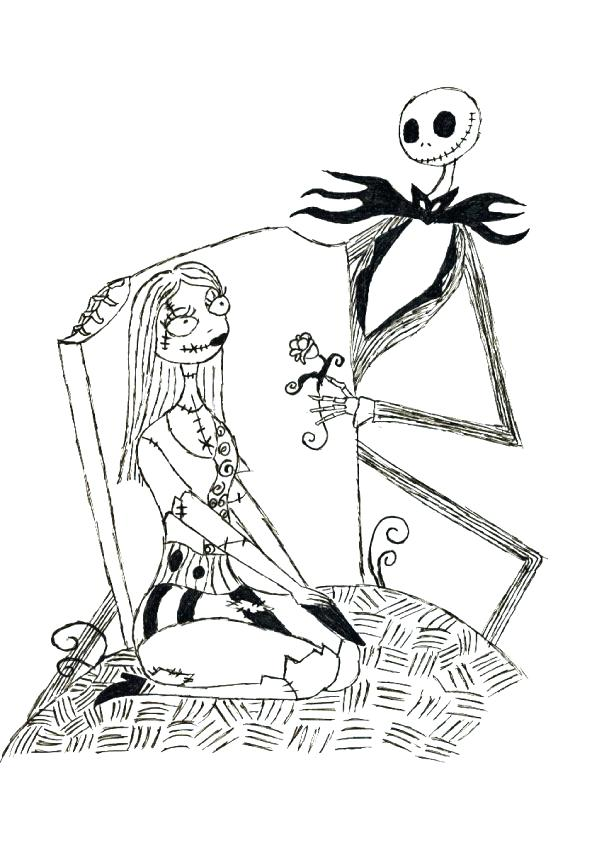 595x842 Zero From Nightmare Before Christmas Coloring Pages Free Printable