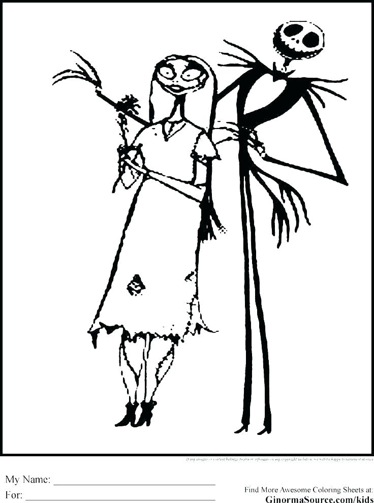 736x990 Jack And Sally Coloring Pages Professional