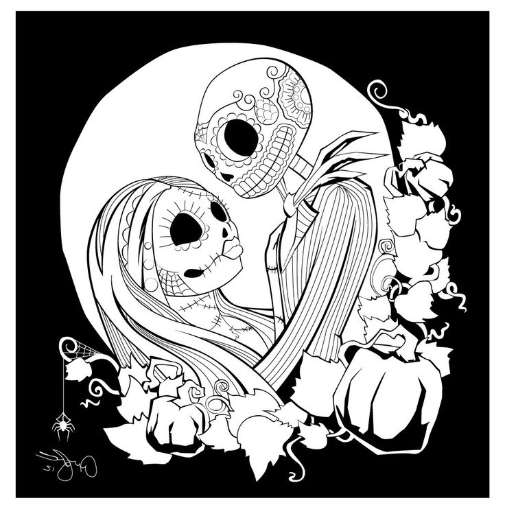 736x736 Nightmare Before Christmas Coloring Pages Free Printable Nightmare