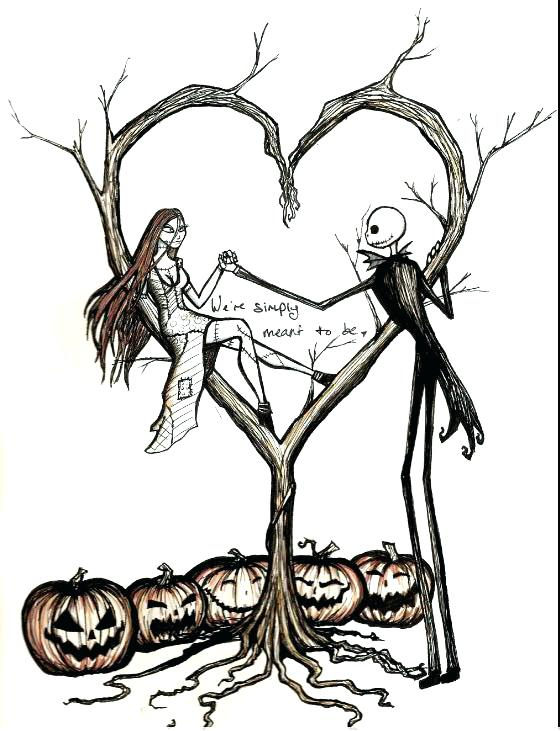 560x731 Jack And Sally Colouring Pages Coloring Image Nightmare Before