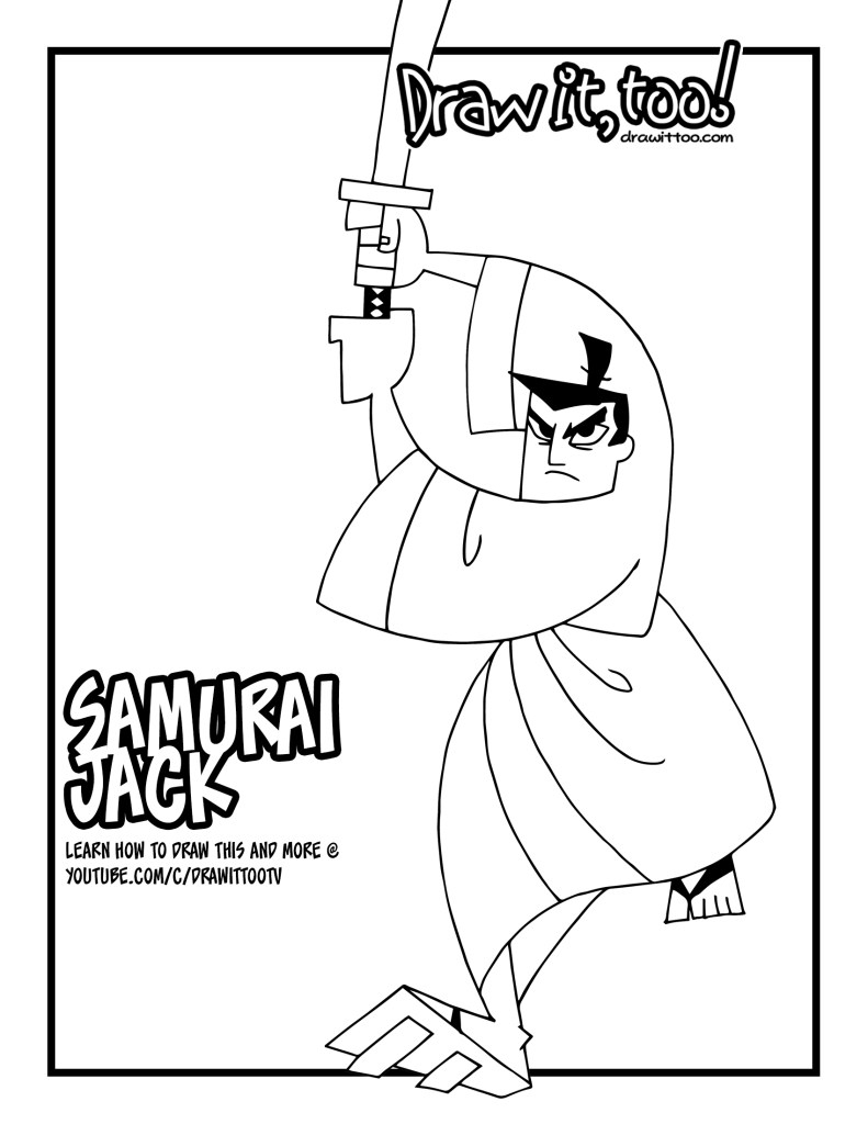 791x1024 Samurai Jack Coloring Pages Download Coloring For Kids