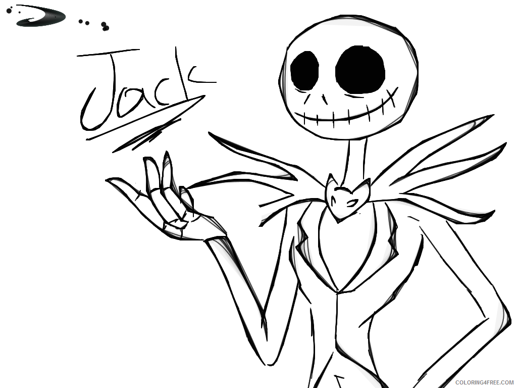 1024x768 Jack And Sally Nightmare Before Christmas Coloring Pages