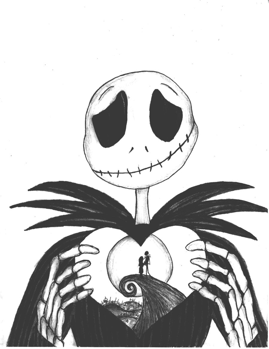 900x1165 Free Printable Nightmare Before Christmas Coloring Pages