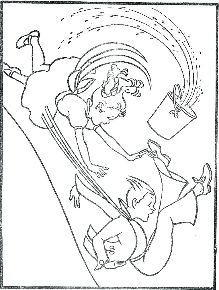 764x1012 Jack And Jill Coloring Page Nursery Rhymes Coloring Pages