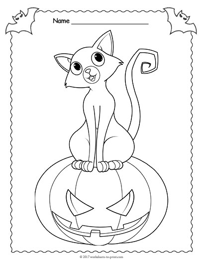 408x528 Jack O Lantern Coloring Page