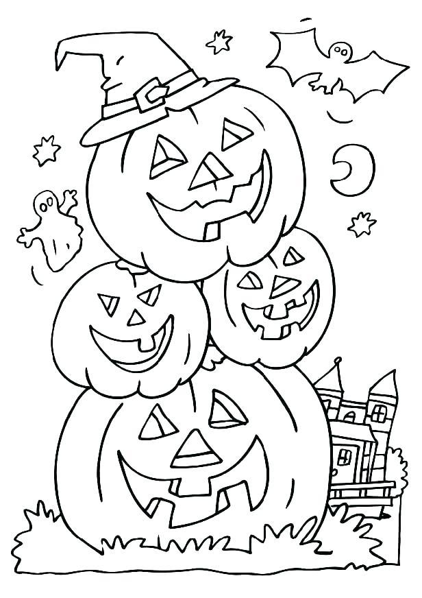 616x872 Jack O Lantern Coloring Pages Printable