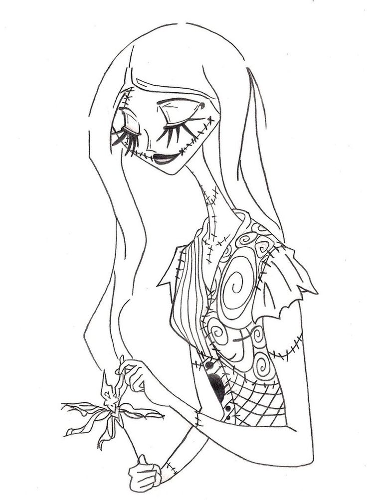 Jack Skellington And Sally Coloring Pages