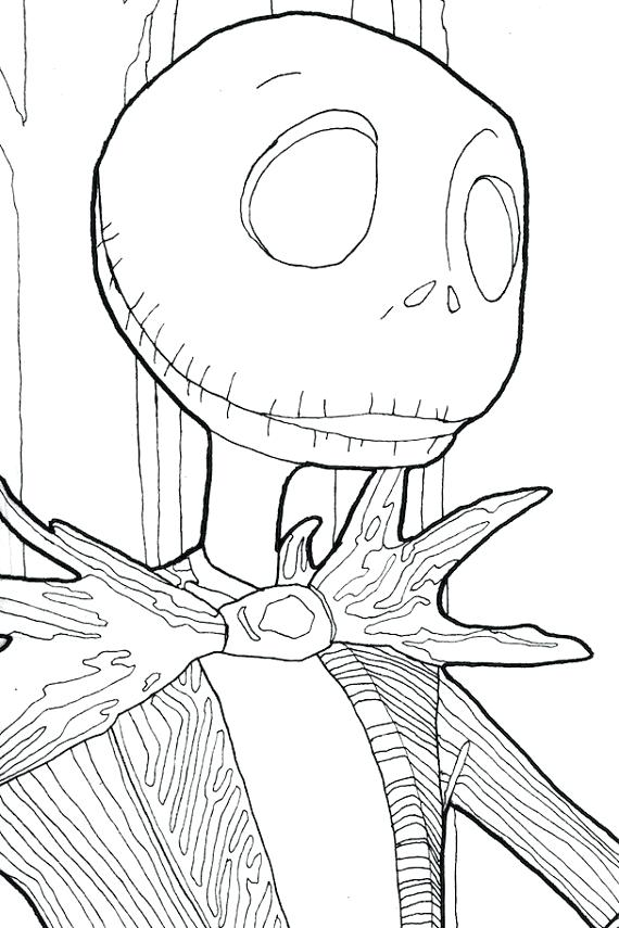 Jack Skellington And Sally Coloring Pages At Getdrawingscom Free