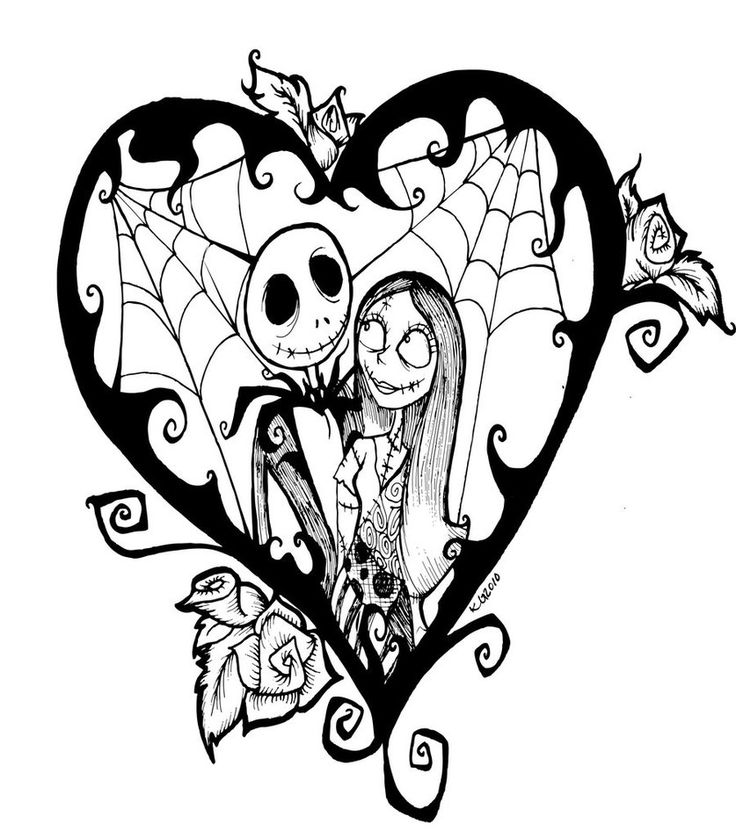 Jack Skellington And Sally Coloring Pages At Getdrawings Com