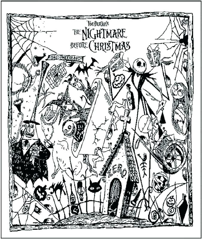 677x800 Jack Skellington Coloring Pages Nightmare Before Color Pages