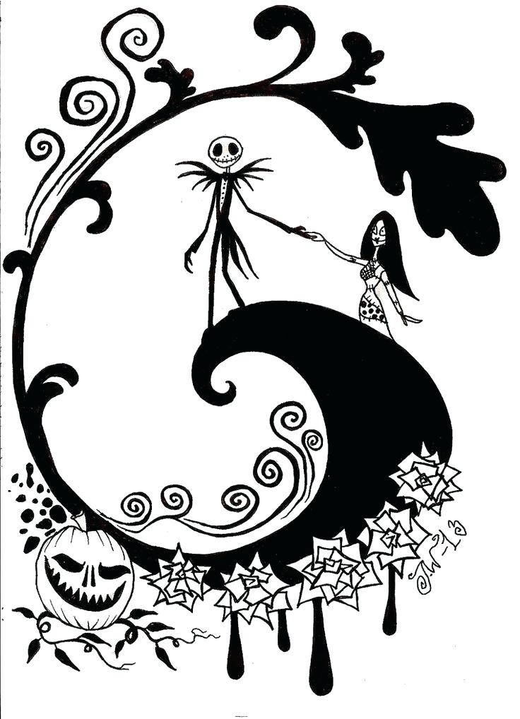 736x1018 Best Nightmare Before Coloring Pages Images On Free Printable Jack