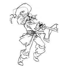 230x230 Top Captain Jack Sparrow Coloring Pages For Toddlers