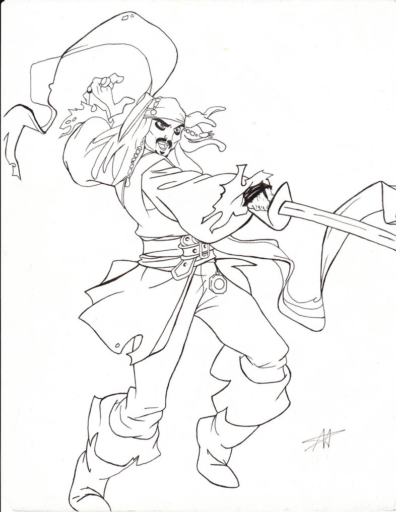 786x1017 Fundamentals Jack Sparrow Coloring Page Captai