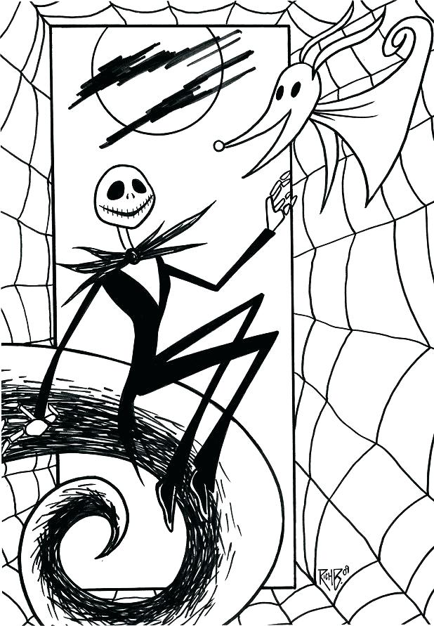 618x891 Jack The Pumpkin King Coloring Pages Jack Coloring Pages Jack