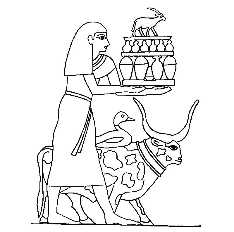 800x794 Egyptian Coloring Pages Ancient Jackal Coloring Page Super Ancient