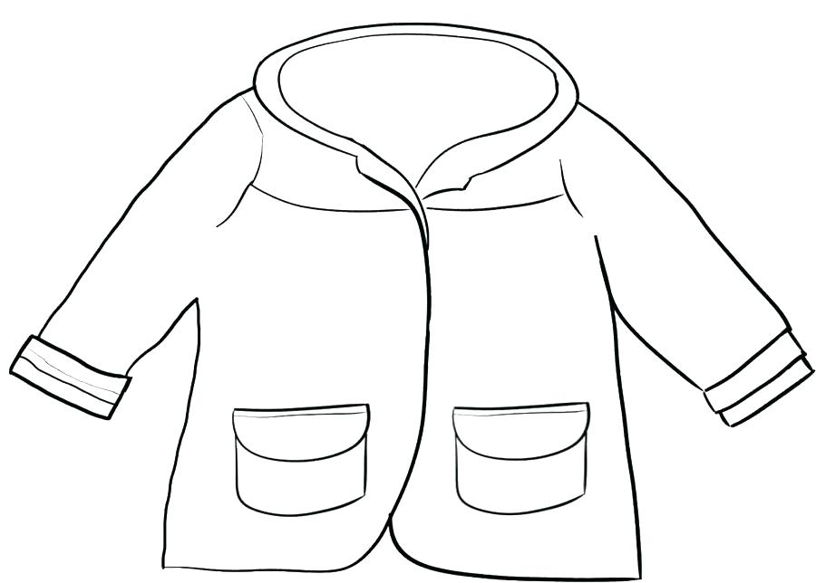 900x644 Clothes Coloring Pages Winter Clothes Coloring Drawn Coat Winter
