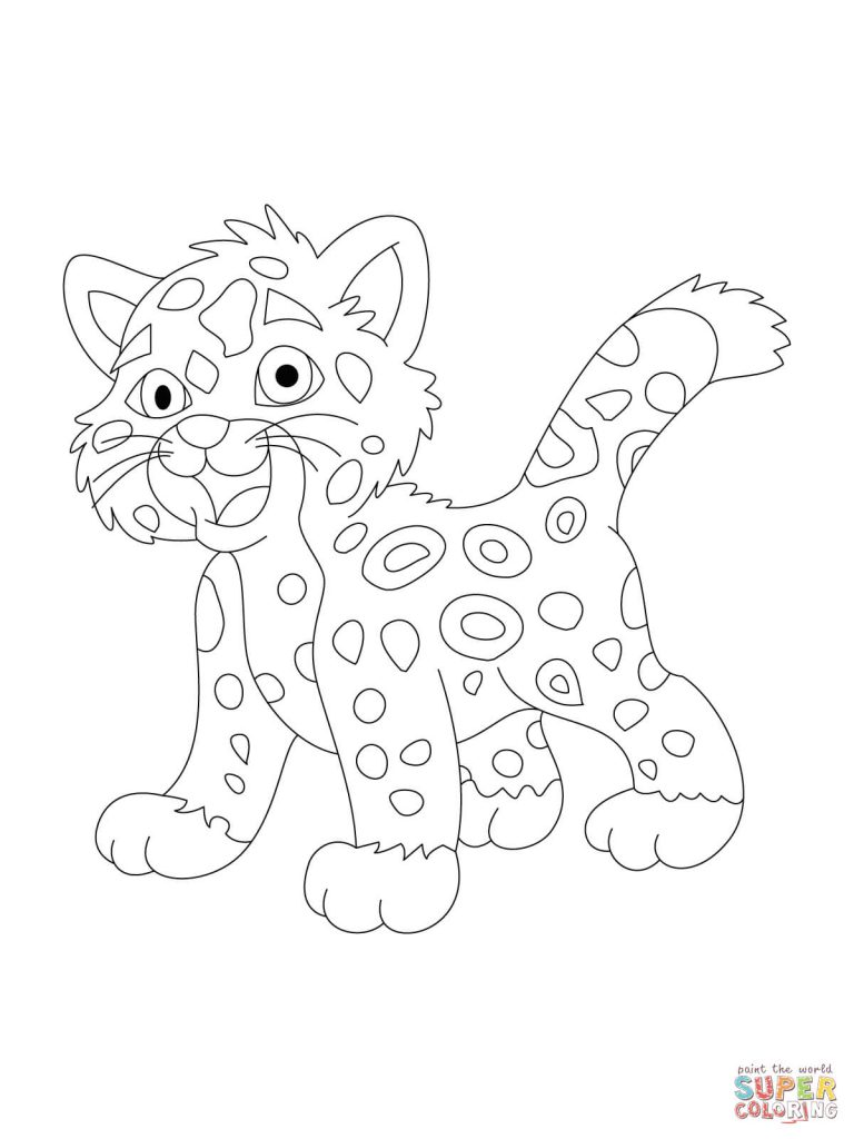 768x1024 Jaguar Coloring Page Fantastic Printable Pages For Kids