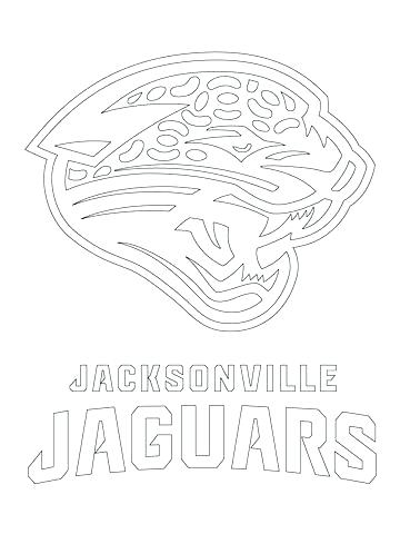 360x480 Nfl Para Colorear Para Jaguars Logo Coloring Page From Category