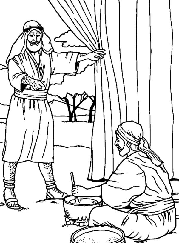 600x814 Esau And Jacob Coloring Pages