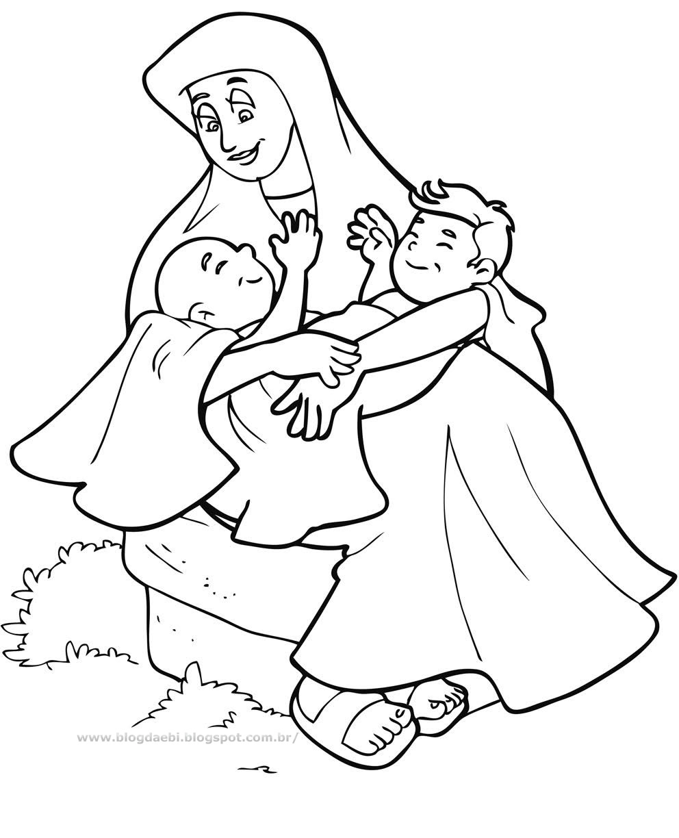 992x1224 Free Esau And Jacob Coloring Pages About Remodel Within