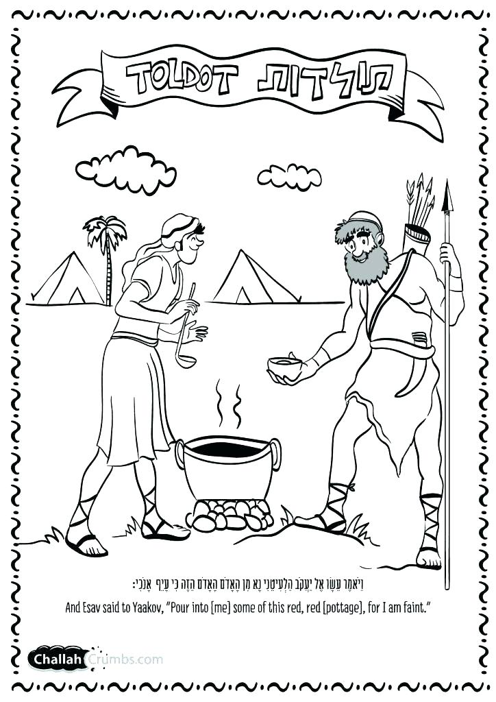 724x1024 Jacob And Esau Coloring Pages And Coloring Pages Jacob And Esau