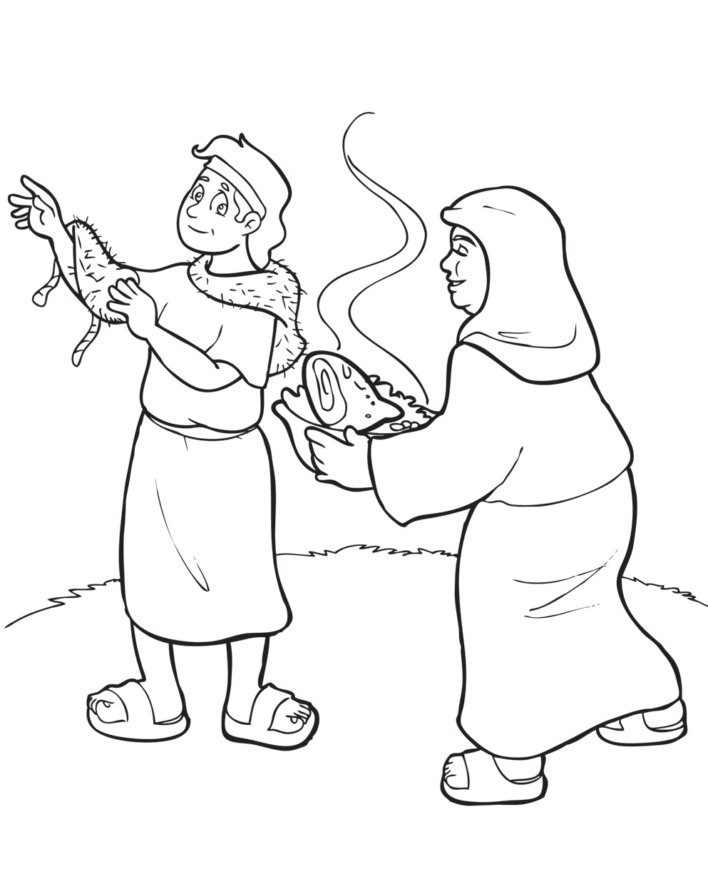 993x1225 Jacob And Esau Coloring Pages Printable Image Throughout