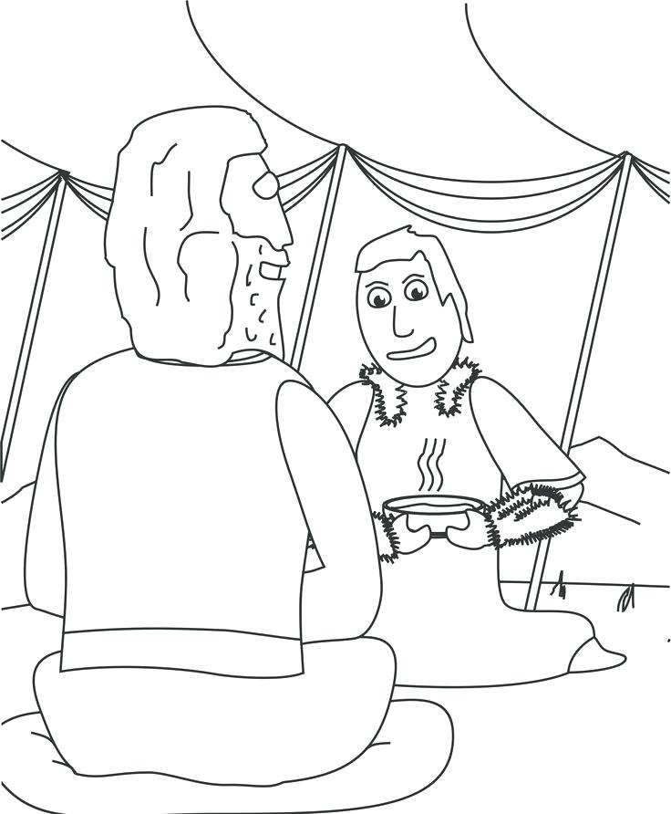 736x892 Jacob Esau Coloring Pages Meets Many Interesting