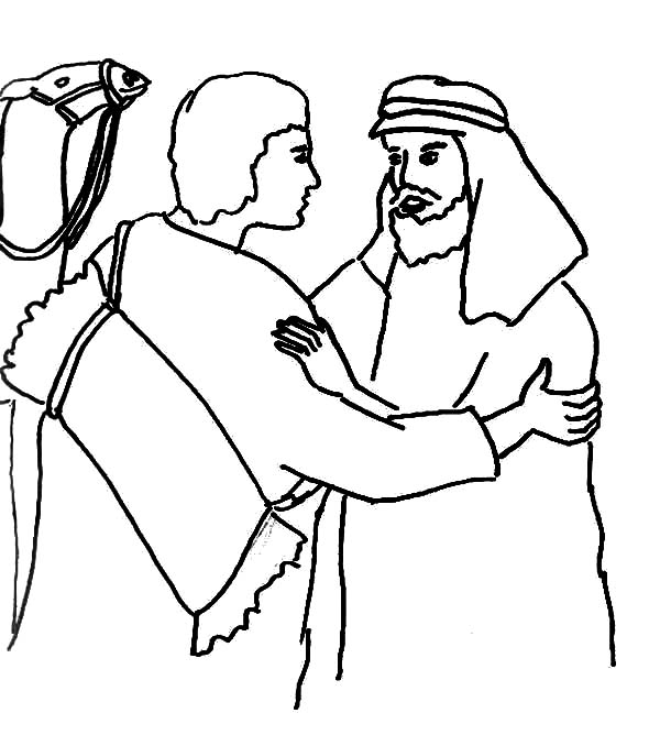 600x678 Jacob And Esau Reunion Coloring Page Reunite