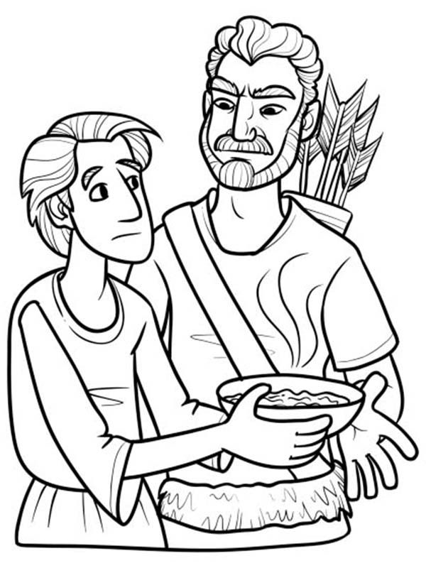600x800 Splendid Jacob And Esau Coloring Pages Bible Of For Toddlers Kids