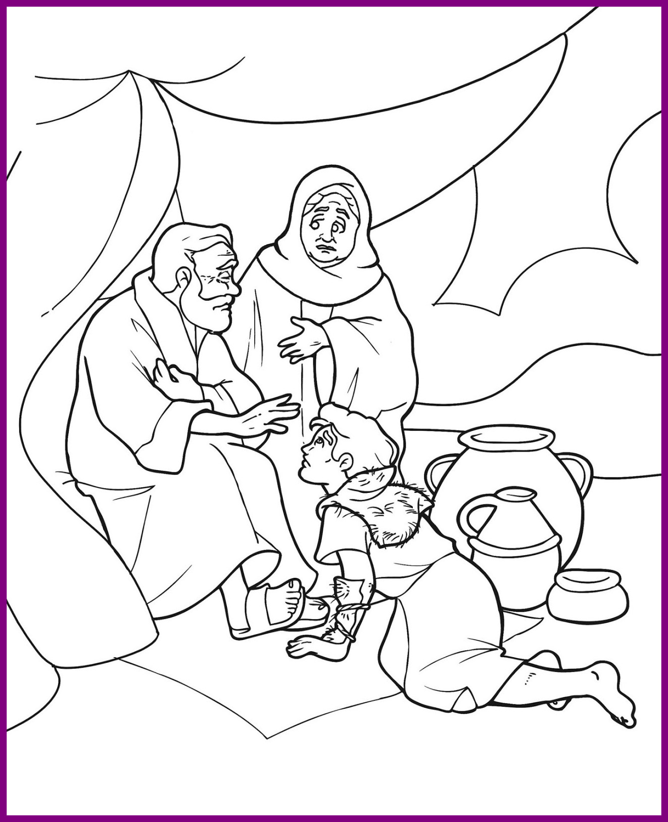 1322x1626 The Best Esau Coloring Pages Printable Books Picture For And Jacob
