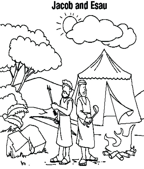 600x703 Camping Coloring Page Camping Coloring Page Instant Download