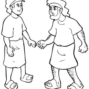300x300 Coloring Pages For Jacob And Esau New S Jacob And Esau Coloring