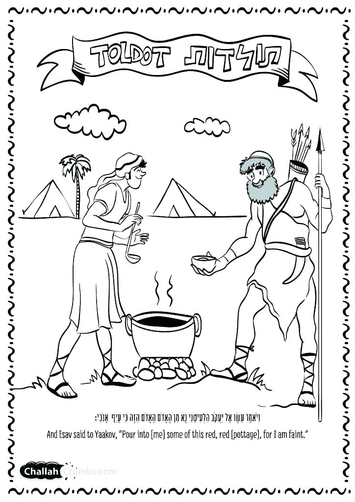 724x1024 Esau Jacob Coloring Pages Camping Coloring Page Esau
