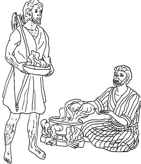 474x550 Esau And Jacob Coloring Pages Esau And Jacob Colouring Pages