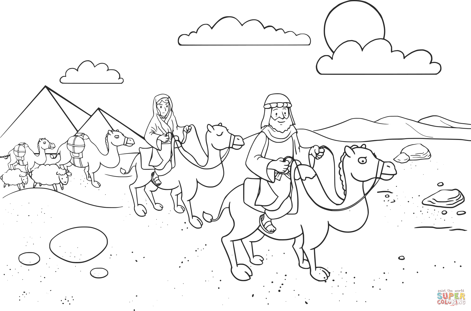 1920x1269 Isaac Blessing Jacob Coloring Page Free Printable Pages