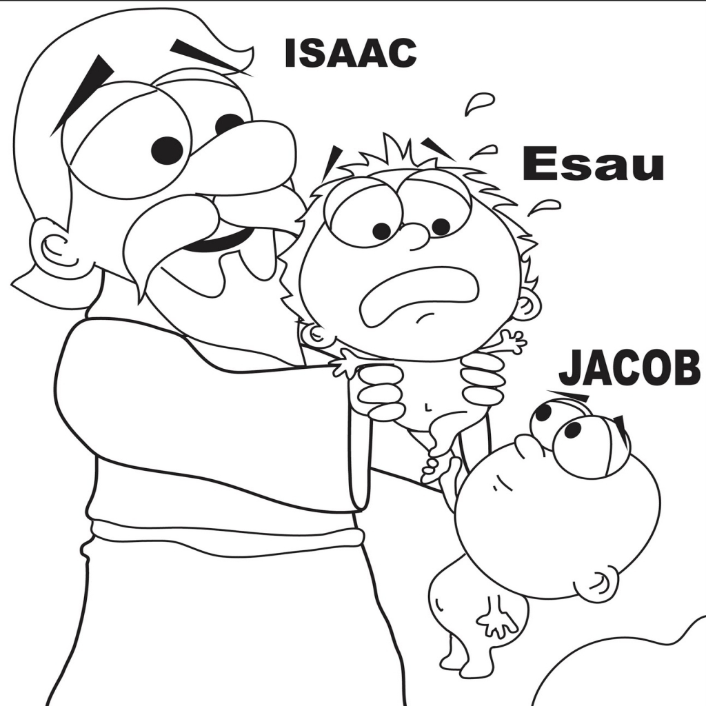 1024x1024 Jacob And Esau Coloring Page Home Bible Lessons Inside