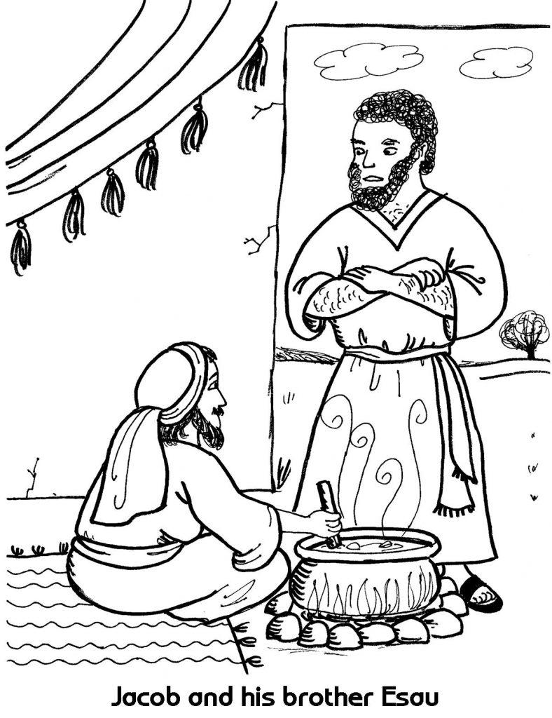 788x1024 Jacob And Esau Reunite Coloring Page