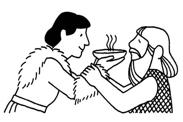 600x400 Jacob Offered Esau A Bowl Of Stew In Jacob And Esau Coloring Page