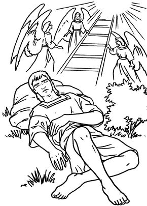 290x405 Jacob And The Stairway Heaven Bible Coloring Page Stuff