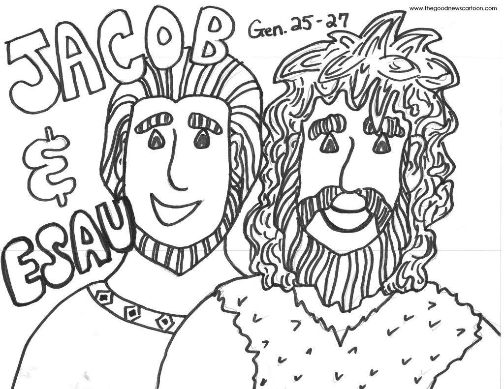 1024x791 Marvelous Printable Coloring Pages Jacob U Esau Pics