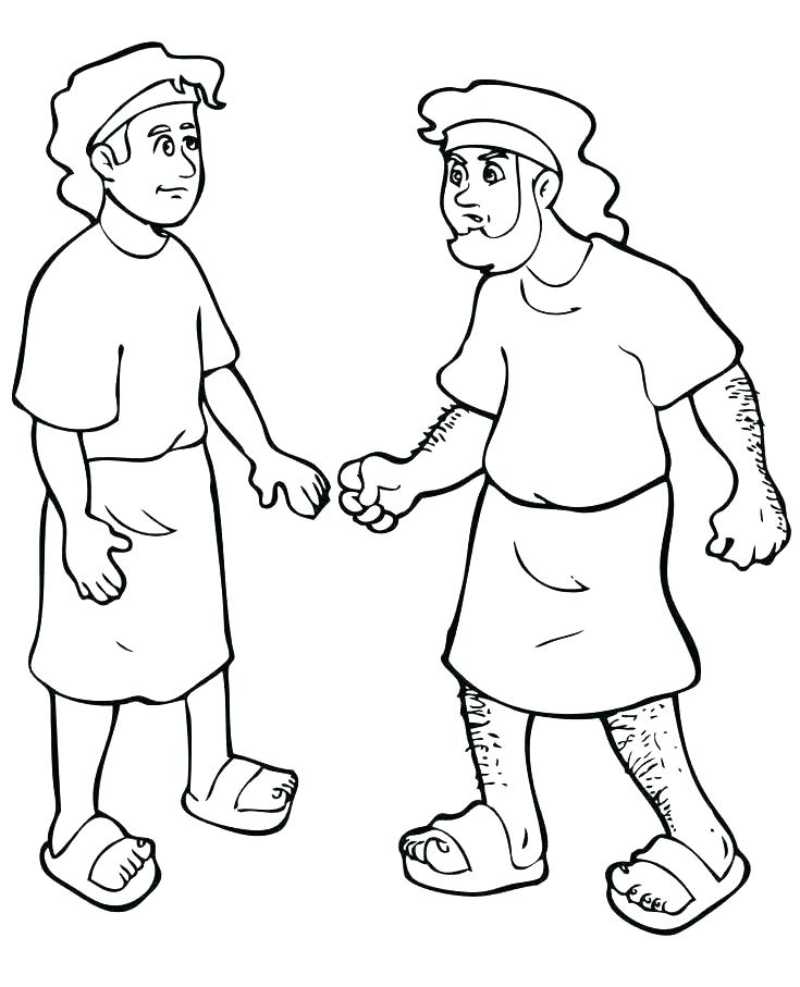 735x907 Isaac Jacob And Esau Coloring Pages