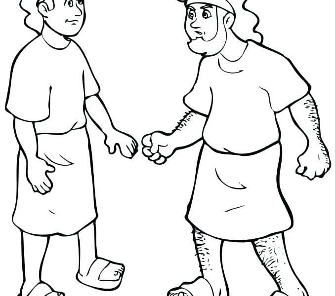 678x600 Jacob Esau Coloring Pages