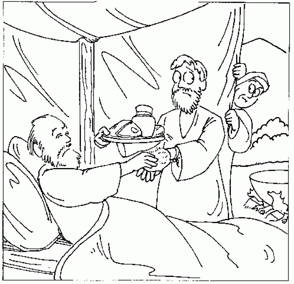 1024x987 Colouring Pages Jacob And Esau Best Of Coloring
