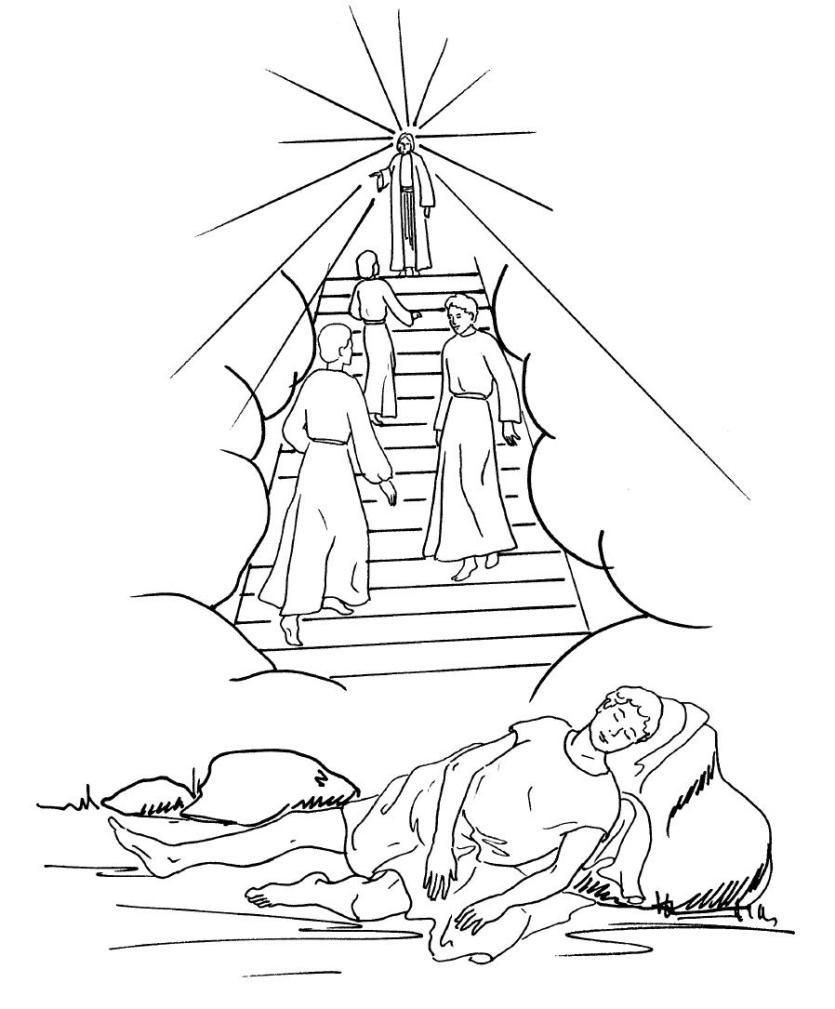 835x1009 Fascinating Jacob S Ladder Coloring Pages Draw Google Search