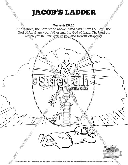 520x673 Genesis Jacobs Ladder Sunday School Coloring Pages Sunday
