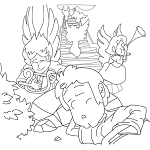 300x300 Jacob's Ladder Coloring Page