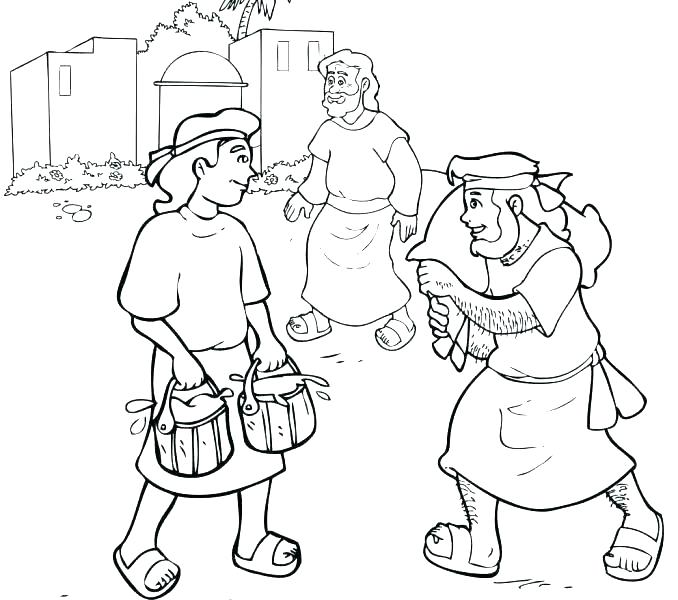 678x600 Jacob And Esau Coloring Page And Coloring Pages Main Coloring
