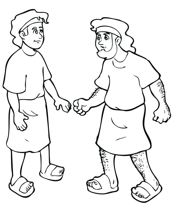 735x907 Jacob And Esau Coloring Pages Beautiful Jacob And Esau Coloring
