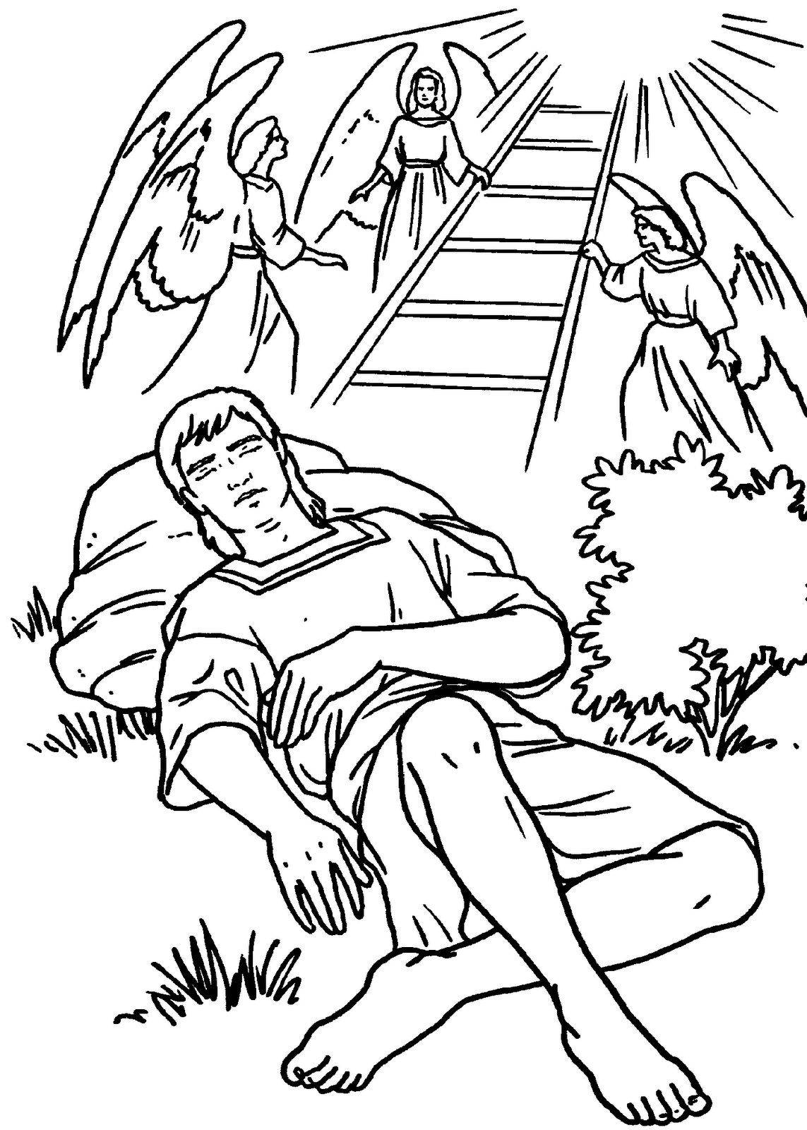 1143x1600 Jacob And The Stairway To Heaven Bible Coloring Page Jacob