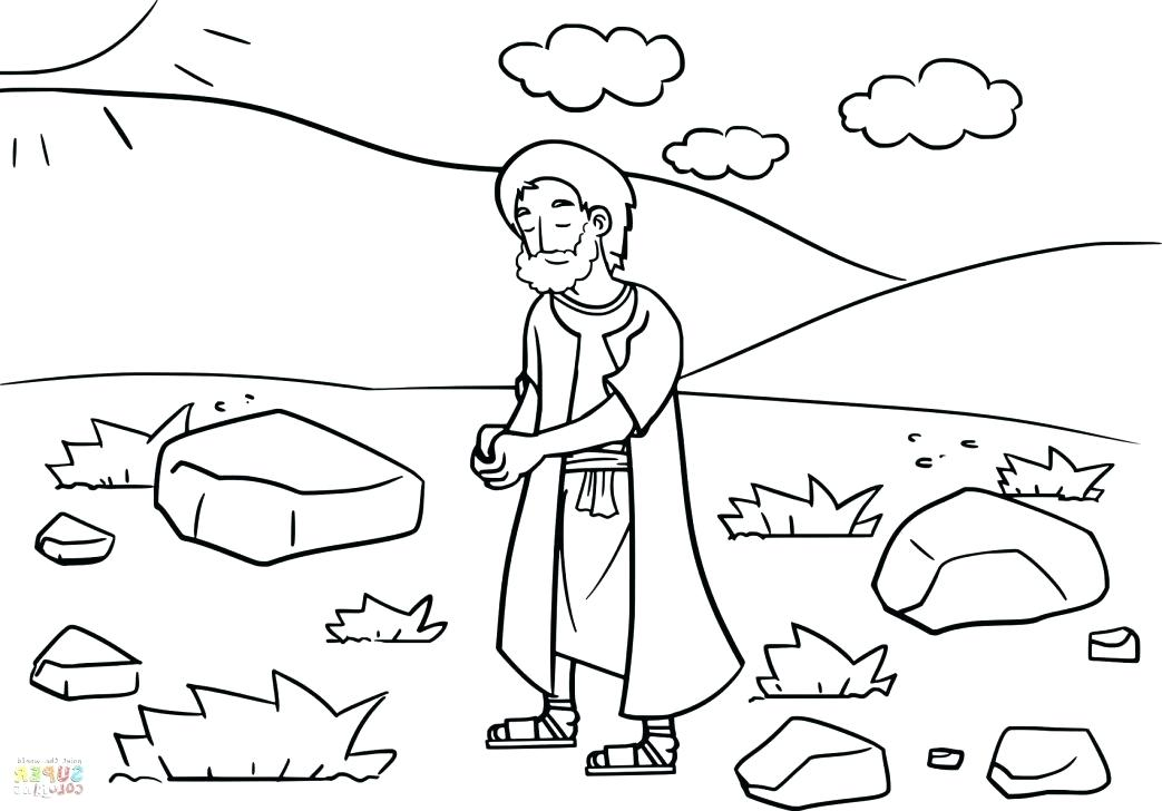1043x728 Jacob And Esau Coloring Sheets